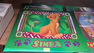 (R6K) A Quantity Of Disney Simba Posters (New)