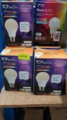 (R6K) Mixed Lot. To Include 15 X Mixed TCP Smart Bulbs, 12 X 25W 2 Pack LED Bayonet Bulb Packs.