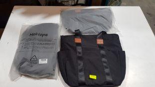 (R10L) 9 X HoHope Black Diaper Backpack (New)