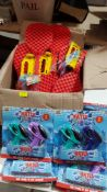 (R10L) Mixed Toys. 15 X Outdoor Play 2 Bats & Ball With Flyer. & 7 X Top Toys Water Pistols Twin