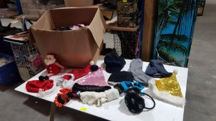 (R10L) Clothing. A Quantity Of Mixed Clothing Items. To Include Hats, Ear Muffs, Thermal Socks &