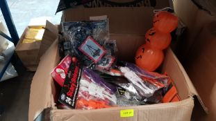 (R6M) Halloween. Contents Of 8 Boxes. A Quantity Of Mixed Halloween Items (All New)