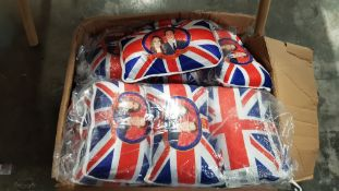 (R7O) Contents Of 3 Boxes. A Quantity Of Commemorative Royal Wedding Twin Cushion Packs. 2 X Un