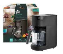 (R6C) Baby. 1 X Tommee Tippee Quick Cook Baby Food Maker, Steamer & Blender. Black. RRP £109.99 (Ne