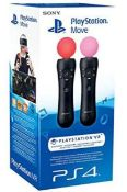 (R6A) Gaming. 1 X Sony PS4 PlayStation VR Move Controllers. RRP £133.99 (New)