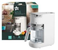 (R6C) Baby. 1 X Tommee Tippee Quick Cook Baby Food Maker, Steamer & Blender. White. RRP £109.99