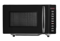(R6D) Kitchen. 1 X 700W Microwave Oven Black Gloss (Model GFM301B-18) (Clean, Appears New)