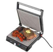 (R6B) Kitchen. 1 X Salter Marble Stone Health Grill & Panini Maker (New – Damaged Packaging)