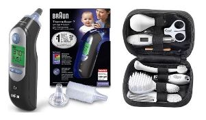 (R6B) Baby. 2 Items. 1 X Braun Thermoscan 7 Ear Thermometer With Age Precision (RRP £59.99) & 1 X T