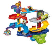 (R6C) Toys. 2 Items 1 X Vtech Toot Toot Drivers Twist And Race Tower & 1 X Leap Frog Chat & Count (