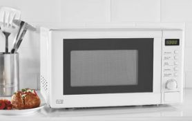 (R6E) Kitchen. 1 X 700W Microwave Oven White (Model GDM301W-16) (Clean, Appears New)
