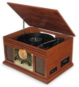 Brand new in box akura-retro-music-centre-with-turntable-cd-cassette-radio record