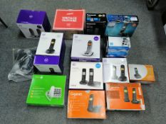 BT Panasonic Philips Gigaset Geemarc Phones - 25 Items - RRP £640 - BOX101