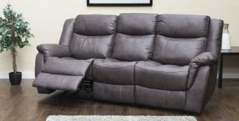 Brand new boxed 3 seater plus 2 seater Walton suite in grey buff fabric