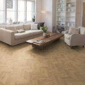 (R4C) Approx. 5.06 m2 Egger Home Laminate Flooring - Light Weinburg Oak