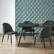 (R7D) 2 X Illona Dining Table (Box 1 Of 2 – Contains Table Top Panel) ). Ash Veneer Table Top. Blac