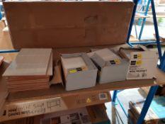 (R7L) 14 X Alaplana Ceramic Tiles Tonoi (248mmx400mmx6mm), 36 x (98mmx250mmx5mm) White Ceramic Till