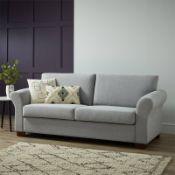 (R7O) 1 X Hayley Sofa Moleskin Brushed Wool. 3 Seater Sofa, Wooden Frame With Solid Beechwood Legs.