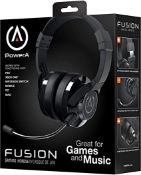(R9C) Gaming. 5 X Power A Fusion Wired Headset (4 X Black & 1 X Sapphire Blue)
