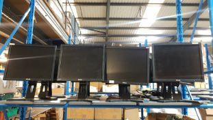 (R5O) Computing. 8 X Dell Monitor (No Cables)
