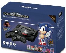 (R9A) Retro Gaming. 1 X Sega Megadrive Classic Game Console With 80 Built In Games. 2 X Wireless Co
