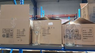 (R5C) Household. 18 X Wine Glass & 12 X Pint Glass (All New)