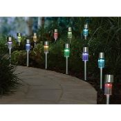 (R6C) Solar Lighting. 6 X (12 Pack) Solar Stick Light (May Contain Undelivered / Wrong Item Return