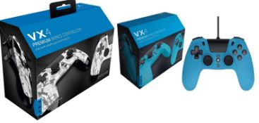 (R9B) Gaming. 7 X Mixed Colour VX4 Premium Wired Controller