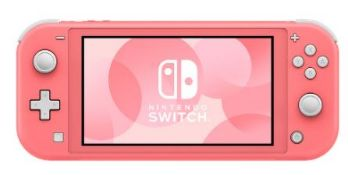 (R13B) 1 X Nintendo Switch Lite Pink With 2 X Official Nintendo Switch Power Cable & Plug. Factory