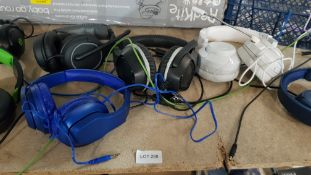 (R9D) Gaming / Audio. 10 X Mixed Headsets To Include Power A, Blackweb, Turtle Beach & Onn