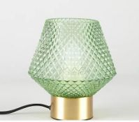 (R6C) Lighting. 3 X Glass Table Lamp (May Contain Undelivered / Wrong Item Return Sticker)