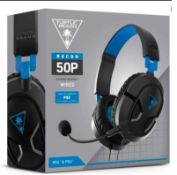 (R9B) Gaming. 5 X Turtle Beach PS5 PS4 Recon 50P Wired Gaming Headset