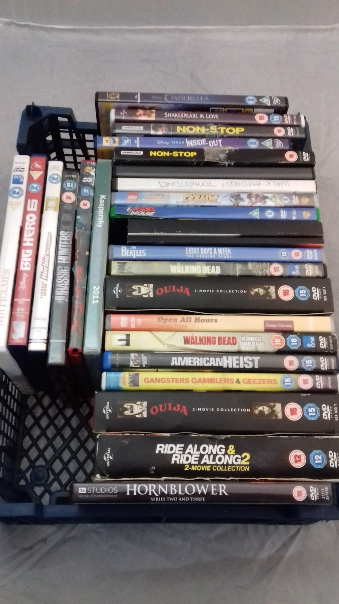 Approx 26 Mixed Dvd's To Include My Holmes, Big Hero 6, Herbie, Jurassic Hunters, 300.