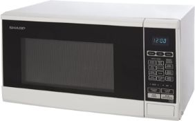 (R6B) Kitchen. 1 X Sharp R270WM Microwave Oven 20L