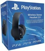 (R9A) Gaming. 1 X Playstation Wireless Stereo Headset 2.0 (New / Sealed) RRP £110