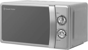 (R6A) Kitchen. 1 X Russell Hobbs Compact Silver Manual Microwave 17L