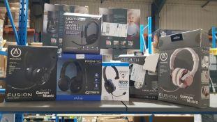 (R9D) Gaming. 6 Items. 2 X Power A Fusion Gaming Headset, 1 X Venom Nighthawk Chat Gaming Headset,