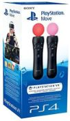 (R9B) Gaming. 1 X Sony Playstation VR Move Motion Controller (Twin Pack) RRP £69.99