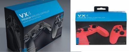 (R9B) Gaming. 7 X VX4 Premium Wired Controller (6 X Black & 1 X Red)