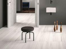 Bianco Striato - Italian Porcelain Tiles - 60 x 120 cm - Polished