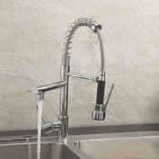 New & Boxed Bentley Modern Monobloc Chrome Brass Pull Out Spray Mixer Tap.RRP £349.99.This Tap...