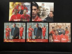 Liverpool Limited Edition Collectors Cards x 5