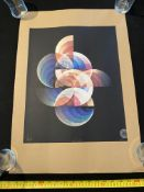 Glass Siren Studio Orbs CMYK Limited Edition Print