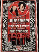 White Stripes Print