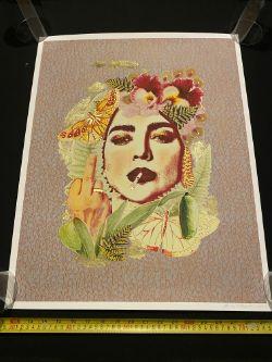 Emma Mullender Feminine & Feisty Gold Leaf Print signed. £95