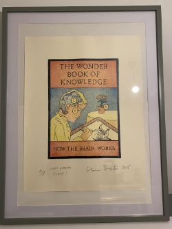 Glen Baxter Artist Proof 'The Wonder Book Of Knowledge, How The Brain Works' £1500
