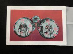 Binoculars unsigned art