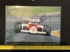 Alain Prost signed photo, unverified