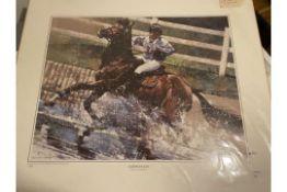 Michael Vaughan Large Limited Edition Print, Watersplash