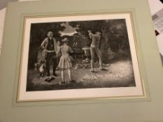 Lawrence Josset Signed Print, The Perfect Shot